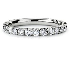 Pavé Diamond Eternity Ring in Platinum #BlueNile beautiful wedding band!