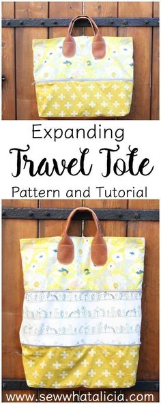 Expandable Bag Pattern and Tutorial   This bag is so versatile. It is perfect for taking on a trip because when you come home with lots of mementos you can just unzip the bag to store more goodies! Click through for the full free tutorial! www.sewwhatalic