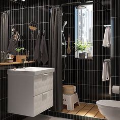 - La salle de bain double usage – IKEA The dual-use bathroom – IKEA - dual-use bathroom - .- La salle de bain double usage – IKEA The dual-use bathroombat Laundry Room Bathroom, Ikea Bathroom, Diy Bathroom Decor, Bathroom Furniture, Bathroom Interior, Small Bathroom, Bathroom Black, Bathroom Ideas, Modern Bathrooms