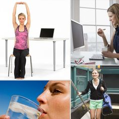 10 Habits For a Healthier Work Life When hard at work at the office, making time for healthy choices can be a little trying, but it's necessary to make fitness a priority in a daily routine. A few simple tweaks are all it takes to refresh a work routine and get you feeling great. Source: Fila and Thinkstock