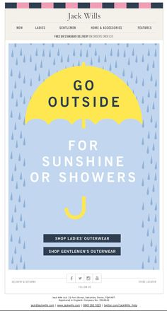 go outside for sunshine or showers