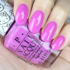 OPI Super Cute in Pink is from the Hello Kitty Collection! (Full review is on SwatchAndLearn.com!)