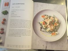 Jamie Oliver's sorta Niçoise salad. High protein 5 ingredient recipe using eggs, salmon, long beans, yogurt