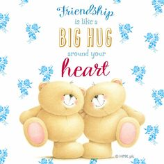 Friendship is like a BIG HUG around your heart! Love and Hugs. Cute Teddy Bear Pics, Teddy Bear Quotes, Teddy Bears, Hugs And Kisses Quotes, Hug Quotes, Friends Are Like, True Friends, Hug Friendship, Cute Friendship Images
