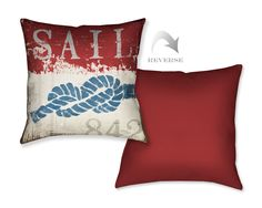 Nautical III Throw Pillow