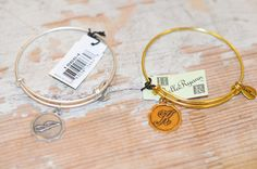 Gold or Silver Initial Bracelets – Brassy Blueberries Would make great Christmas presents!!