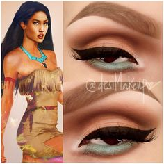 .@desimakeup | Today's inspiration. Pocahontas all eyeshadows used were from Costal Sents 88...