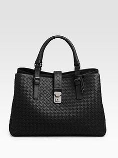 So many pockets.... Bottega Veneta woven leather tote bag. $3080