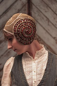 Ember Cap crochet pattern by Cristina Mershon, in Interweave Crochet, Accessories 2014