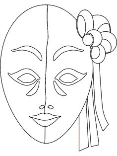 African Mask Coloring Page Art of Africa Pinterest Red