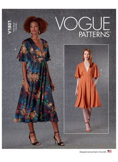 Pleated Skirt Pattern, Simple Dresses, Summer Dresses, Summer Dress Patterns, Vogue Sewing Patterns, Miss Dress, Necklines For Dresses, Kimono Dress, Diys