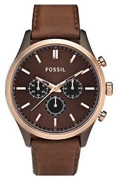 Fossil Leather Strap Chronograph Watch | Nordstrom ($100-200) - Svpply