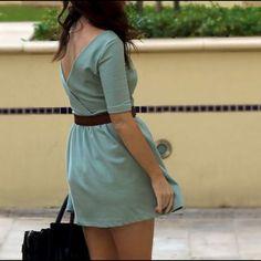 Zara Teal Summer Dress