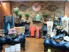 "Love the ""Denim Den"" at Apricot Lane Boutique in Spokane's River Park Square!"