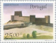 Sello: Castle Trancoso (Portugal) (Castles and Coat of arms of Portugal (5th group)) Mi:PT 1720,Sn:PT 1691,Afi:PT 1798