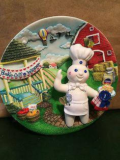 Pillsbury Doughboy 3-D Plate Danbury Mint... Kiss-Me Cake