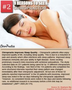 Chiropractic Improves Sleep Quality - Chiropractic patients often enjoy improved quality of life, including sleep quality. This is due to a reduction in pain and anxiety which often interferes with sleep patterns. Improved sleep enhances immunity and your ability to fight disease.