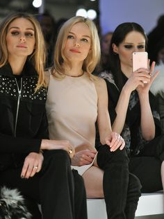 Olivia Palermo, Kate Bosworth, Coco Rocha - Rebecca Minkoff Fall 2016 Front Row - February 13, 2016 #nyfw #FROW