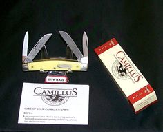 """Camillus 712 Knife Yello Jaket Stockman 3-1/2"""" 1990's W/Packaging,Papers Rare @ ditwtexas.webstoreplace.com"""