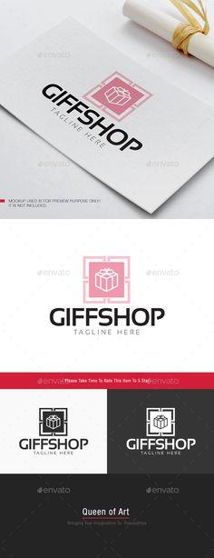 Gift Shop Logo: Object Logo Design Template created by Queen_Of_Art. Logo Design Template, Logo Templates, Focus Logo, Gift Logo, Eye Logo, Logo Design Trends, Geometric Logo, Travel Logo, Unique Logo
