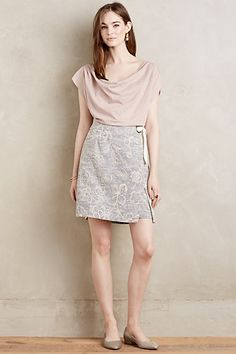 Clementia Jacquard Skirt #anthropologie