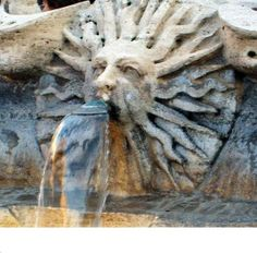 Custom Made Italian Sun Fountain