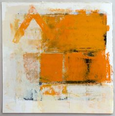 the beginnings of orange, late summer  monotype: etching ink, graphite,2015