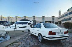 BMW E34 5 series white