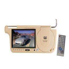 Pyle PLDVSL7T 7 TFT Left Side Sunvisor with DVD Player (Tan Color)