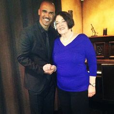Shemar Moore and his mother