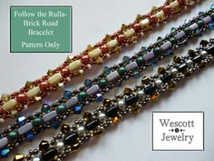 Pattern for Follow the RullaBrick Road Bracelet by WescottJewelry, $5.00