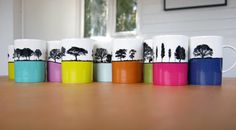 Spotted these briliant mugs from The Art Rooms when holidaying in the lakes earlier this year - they combing two of the design (and landscape geek) greats - tree silhouettes and bold block colour.