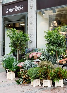 & Other Stories | We've opened a pop up shop together with our favourite florist 'Christoffers Blommor' in our Stockholm store. Market Stall Display, Market Stalls, Shop Fronts, Floral Style, Floral Design, Accessories Display, Store Design, Greenery, Flowers