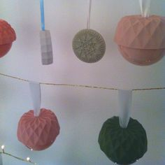 Love these Christmas ornaments from Lenneke Wispelwey