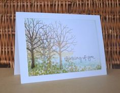 Back to basics! You need nothing more than the Sheltering Tree stamp sets and some inks to create this simple card! - Vicky Hayes
