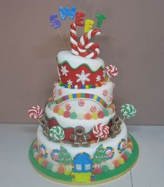 Pin Sweet 16 Candyland Party Theme Cake On Pinterest more at Recipins.com