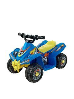 Trademark Lil' Rider Bandit GT Sport Battery Operated ATV, Blue/Yellow