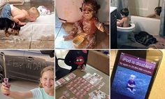 Parents snap evidence of their kids' messiest exploits | Daily Mail Online