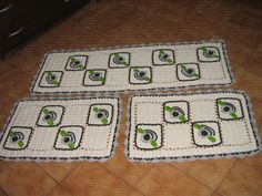 tapetes de crochê frete grátis