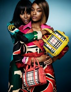Burberry SS '15 ad campaign featuring Naomi Campbell and Jourdan Dunn