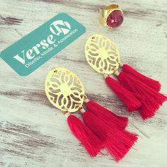 #mulpix Nueva colección de nuestra línea de aretes en borlas , exclusivos como tú ! Pedidos 3116712490   #aretes  #rojos  #diseño  #moda  #accesorios  #bronce  #oro  #anillo  #love  #semanasanta
