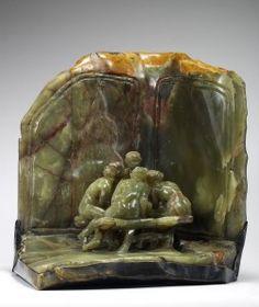 Les Causeuses Marbre-Onyx, bronze (1897) H.45; L.42,2; P.39 cm, Paris, Musée Rodin Photo Christian Baraja
