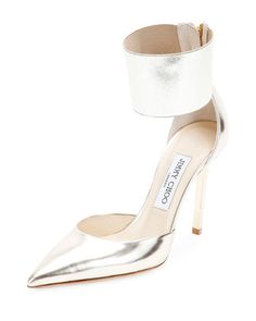 Trinny Ankle-Cuff d\'Orsay Pump, Champagne by Jimmy Choo at Bergdorf Goodman.