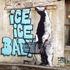 "Street art | Mural ""Ice Ice Baby"" (NuArt, Stavanger, Norway) by Pøbel and Østrem"