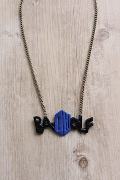 Bad Wolf  Doctor Who  Polymer Clay Necklace by LadyArtemisGifts