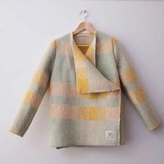 Wintervacht size S | WINTERVACHTJAS - made out of old wool blankets! superduper cool!