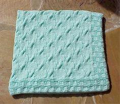 (6) Name: 'Knitting : Checks & Cables Travel Blanket
