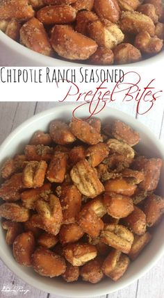 Chipotle Ranch Seasoned Pretzel Bites Recipe for Christmas! Easy Holiday Appetizer or Snack Recipe!