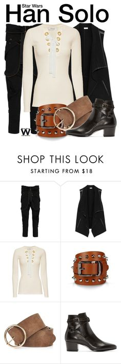 """""""Star Wars"""" by wearwhatyouwatch ❤ liked on Polyvore featuring Faith Connexion, Vince, 10 Crosby Derek Lam, Barbara Bui, River Island, Yves Saint Laurent, wearwhatyouwatch and film"""
