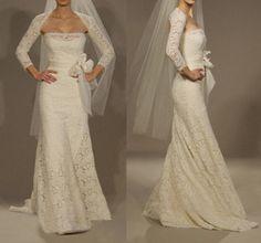 Custom Long Sleeves Lace Wedding Dress/Bridesmaids by KarenTrends, $448.00